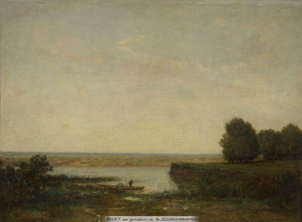 河 卢梭 风景油画 油画 欧洲油画 珍藏 壁画 精品 装饰画 美术 精美