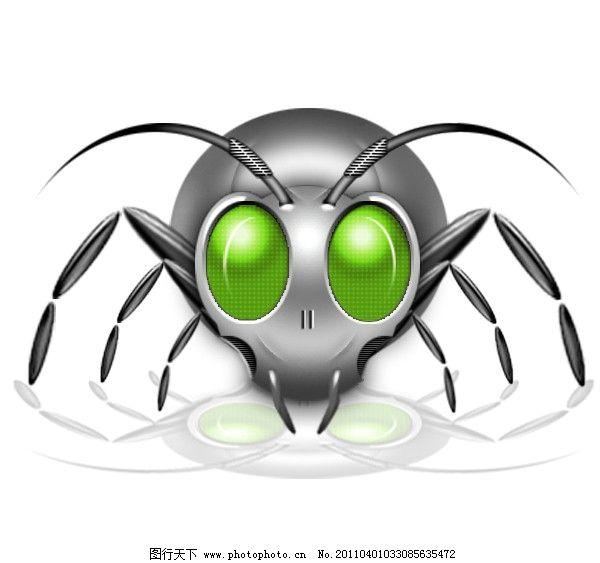 机械蜘蛛 小动物 小素材 psd分层素材 源文件 300dpi psd