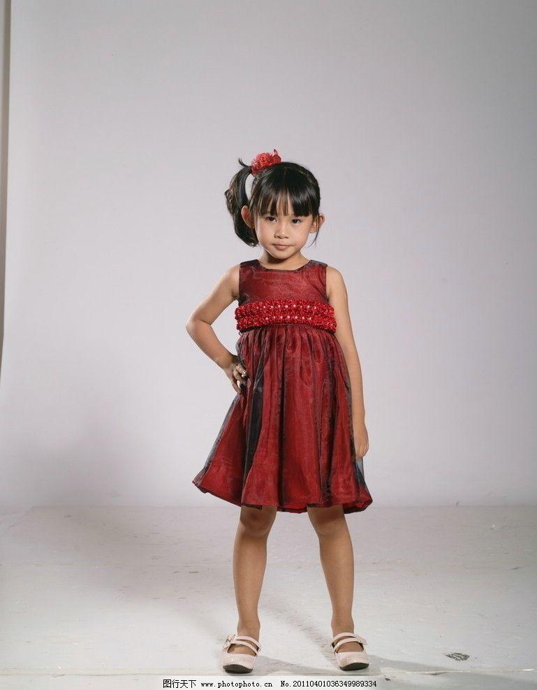 童装 服装模特 时尚服装 公主裙 小礼服 人物摄影
