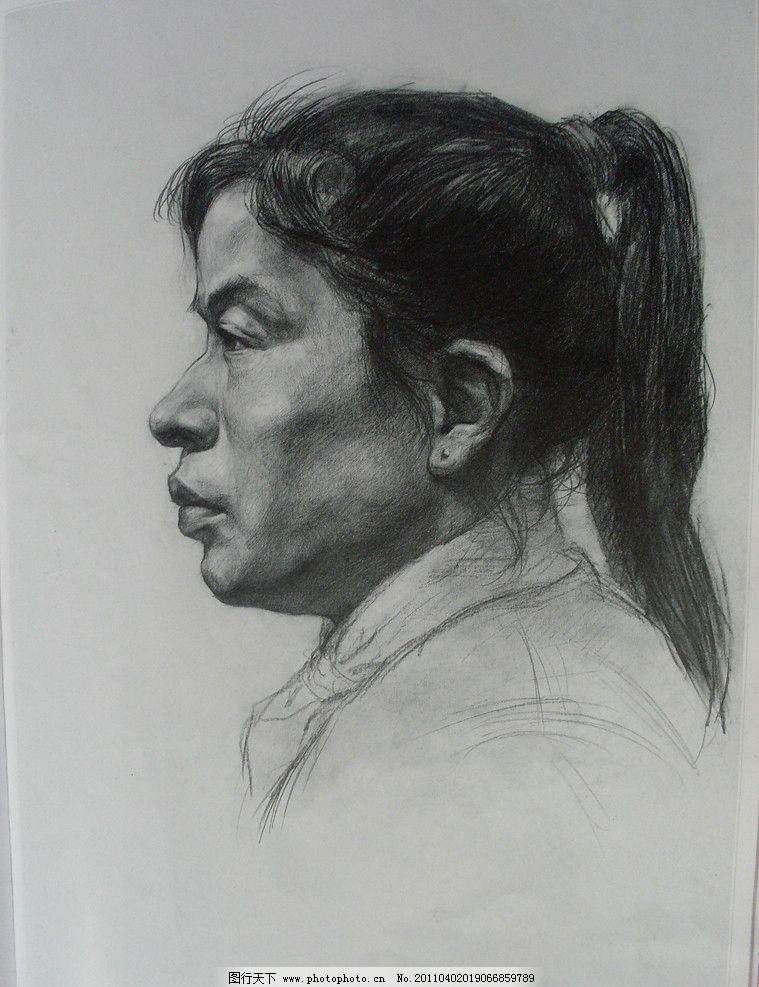肖像 肖像素描 素描肖像 素描 中国美术学院优秀作品 线描 线条 五官 图片