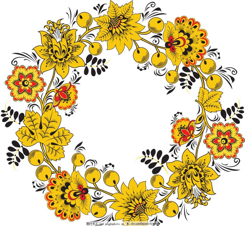 古典花纹花边底纹透明png图片