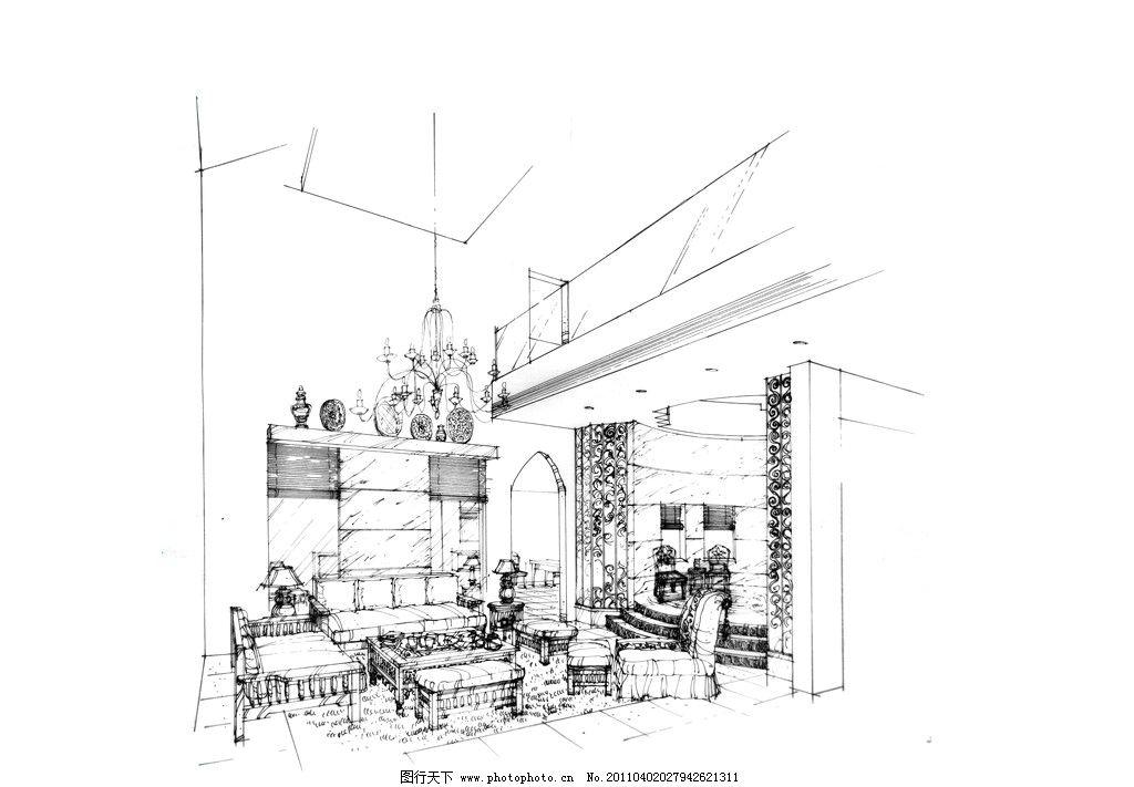 室内设计 手绘室内设计 手绘室内 室内效果图 室内景观 景观室内 手绘