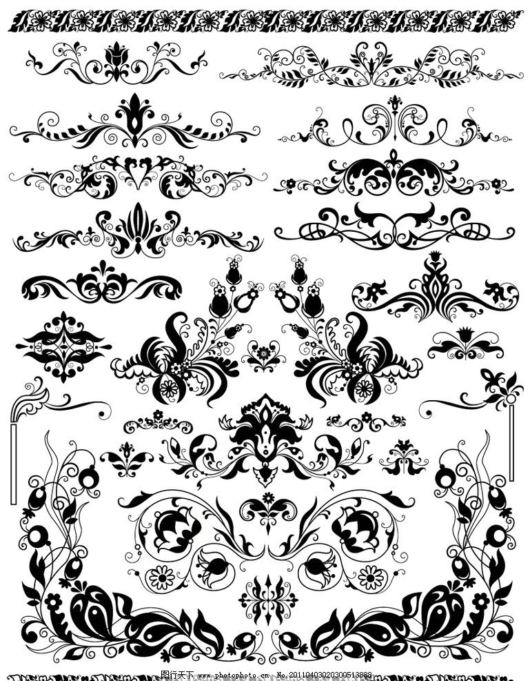 欧式古典花纹花边图片
