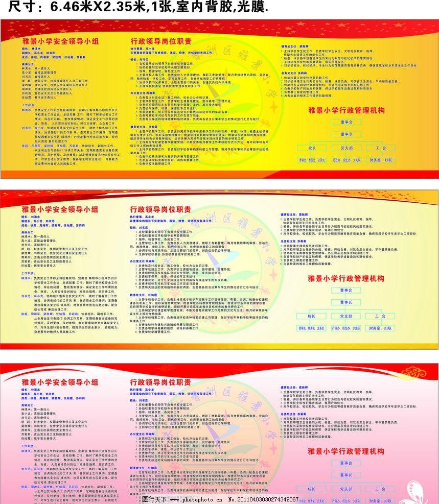 学校展板 安全责任人 组织结构图