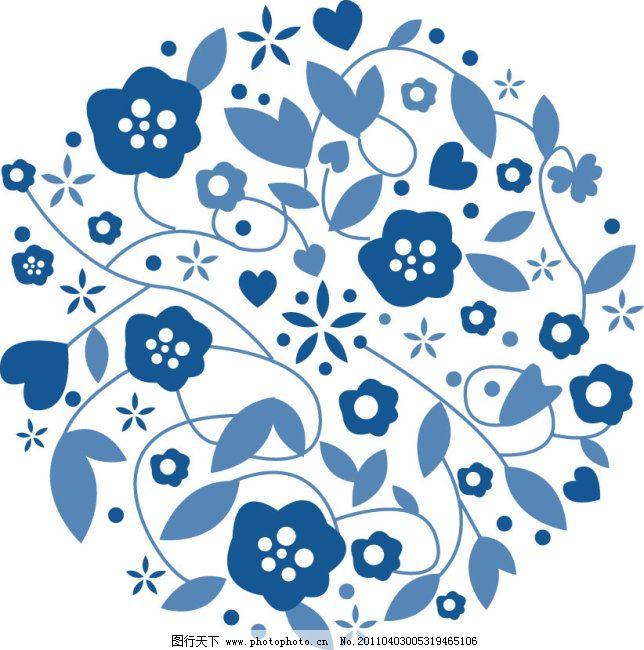 青花瓷花纹免费下载 用于传统中国风 自己画的矢量图 广告设计