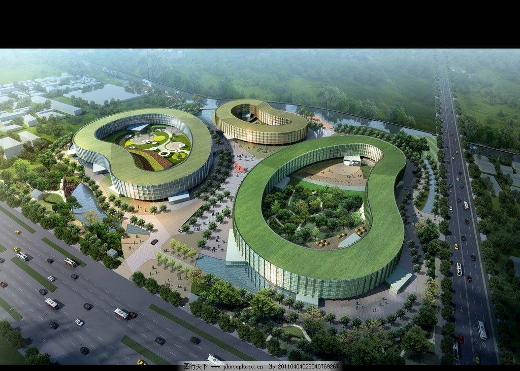 建筑鸟瞰图 天朗园林模型 水晶石 朴枫 环境设计 园林设计 源文件库