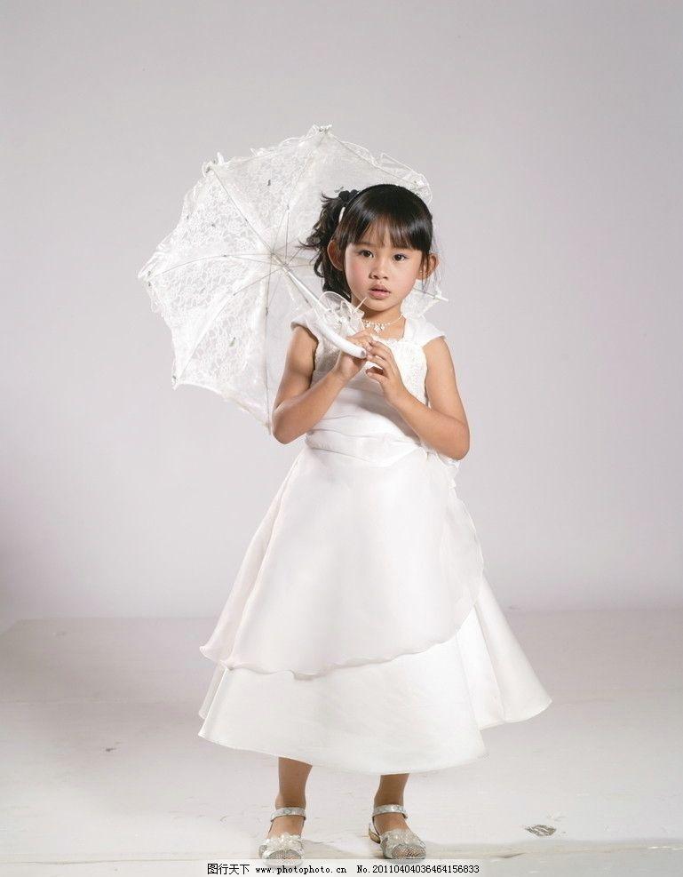 童装 童装漂亮可爱的小孩 儿童人物 童装素材 小公主 伞 儿童幼儿
