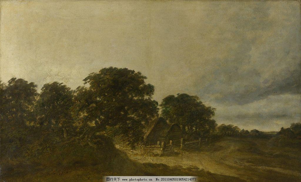 米切尔/乔治米切尔景观与树木建筑物和一条道路图片