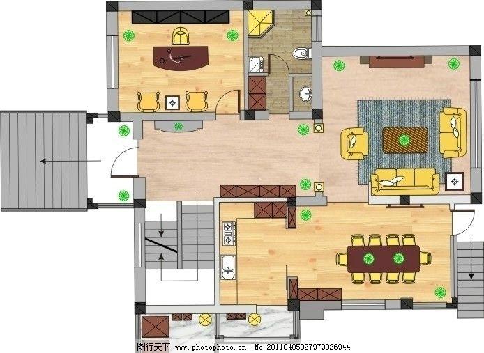 商品房平面图 商品房 平面图 家居设计 室内设计 平面设计 建筑家居