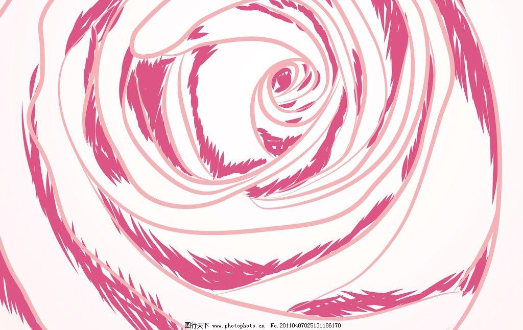 手绘玫瑰矢量素材 玫瑰 手绘 玫瑰花 线描 潮流花纹 线条花纹 手绘