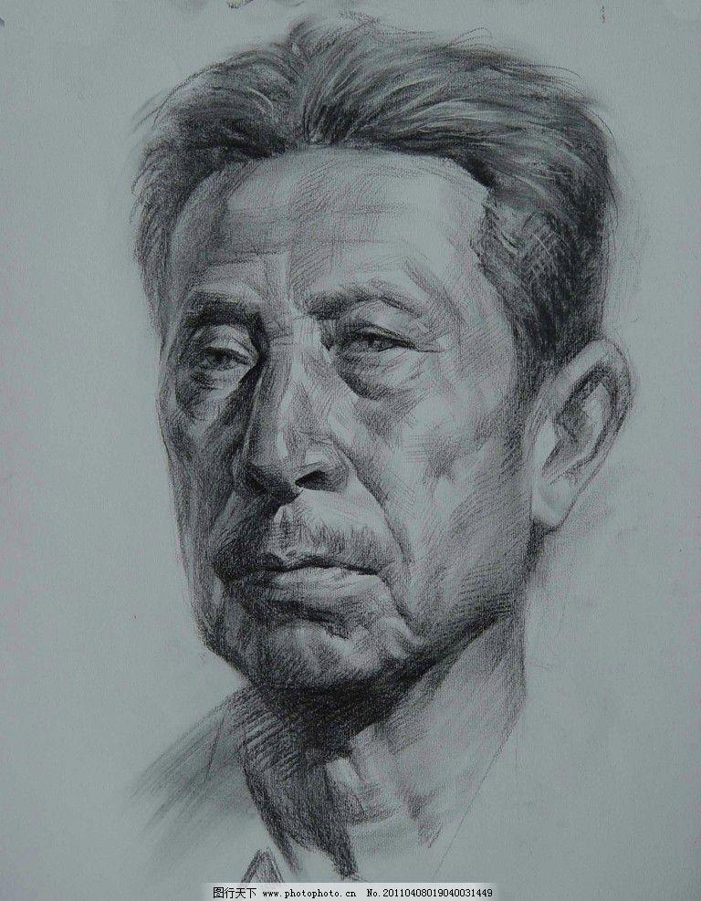 线描 线条 五官 头发 教师作品 头像作品 人物 人头像 范画 范画作品