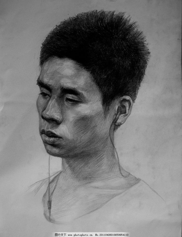 教师作品 头像作品 人物 人头像 范画 范画作品 素描作品 高考素描