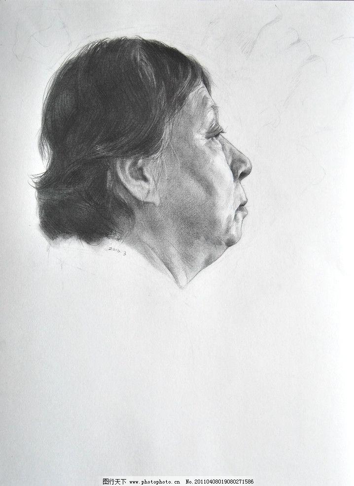线条 五官 头发 教师作品 头像作品 人物 人头像 范画 范画作品 素描