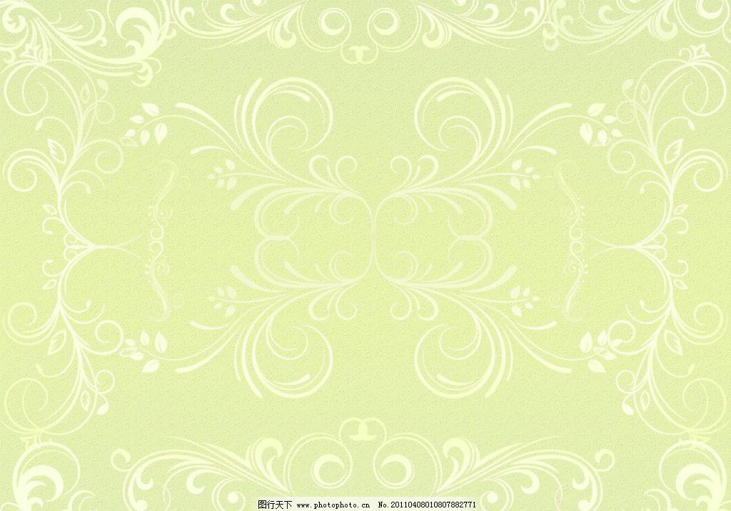 欧式花纹背景图片,背景素材 花纹墙纸 绿色背景 欧式