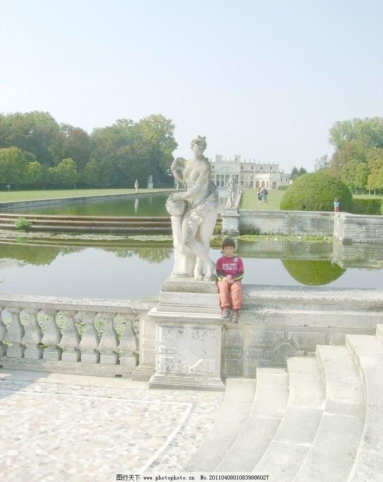 摄影 园林建筑 欧式园林建筑图片素材下载 欧式园林建筑 雕塑 园林
