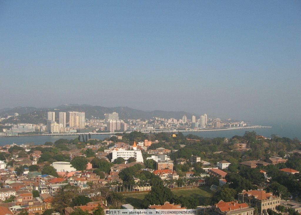 厦门鼓浪屿 风景 大海 建筑 远眺 蓝天 景色 国内旅游 摄影