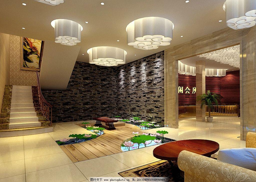 会所水景装修效果图 会所 水景 装修        室内设计 环境设计 设计