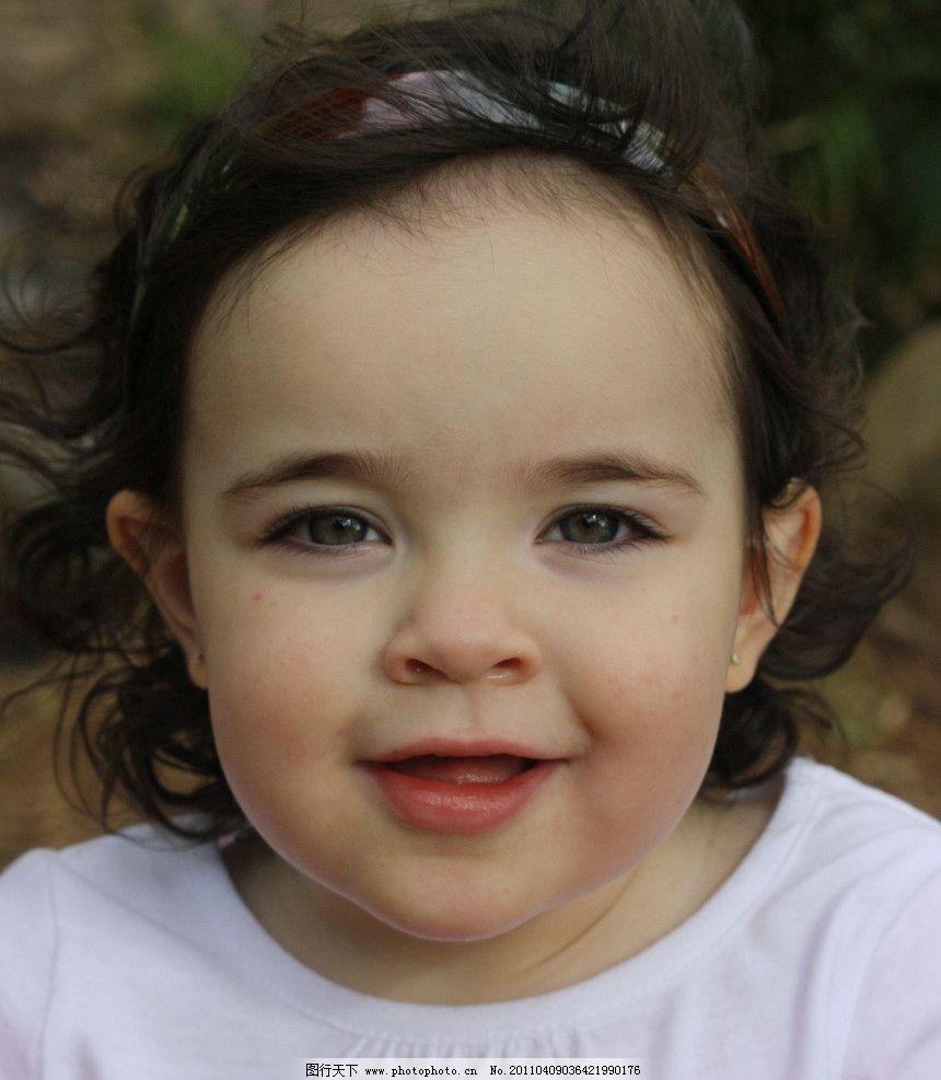 哥伦比亚人 小姑娘 胖乎乎脸 大眼睛 微笑 天真可爱 惹人喜爱 外国