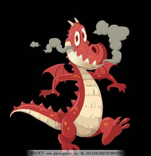 恐龙 可爱 矢量动物 动物 卡通 喷火 卡通明星 明星偶像 矢量人物