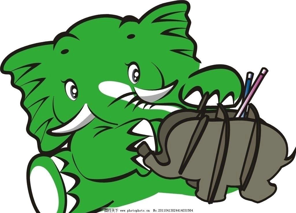 卡通大象 生物世界 野生动物 矢量图库 cdr 矢量