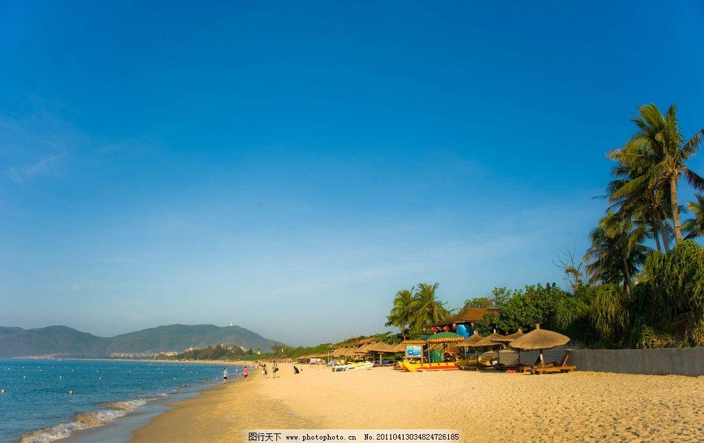 海岸 海边 沙滩 旅游 椰树 美丽 热带海浪 海浪 自然风景 自然景观