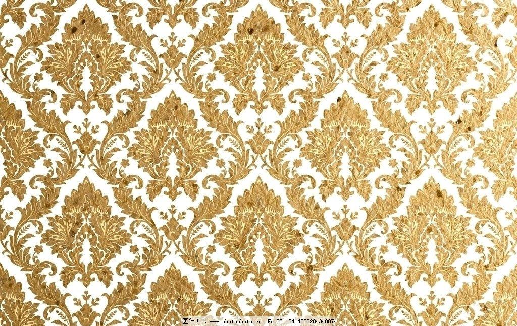 金色花纹 欧式金色花纹 欧式花纹 复古花纹 装饰花纹 壁纸 复古怀旧
