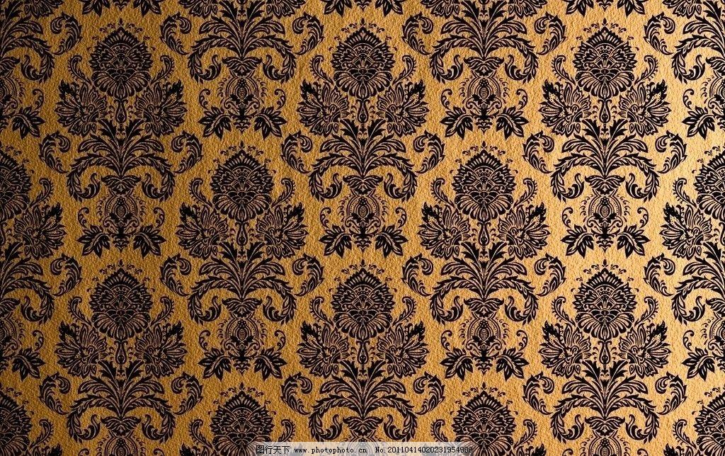 欧式金色花纹壁纸图片