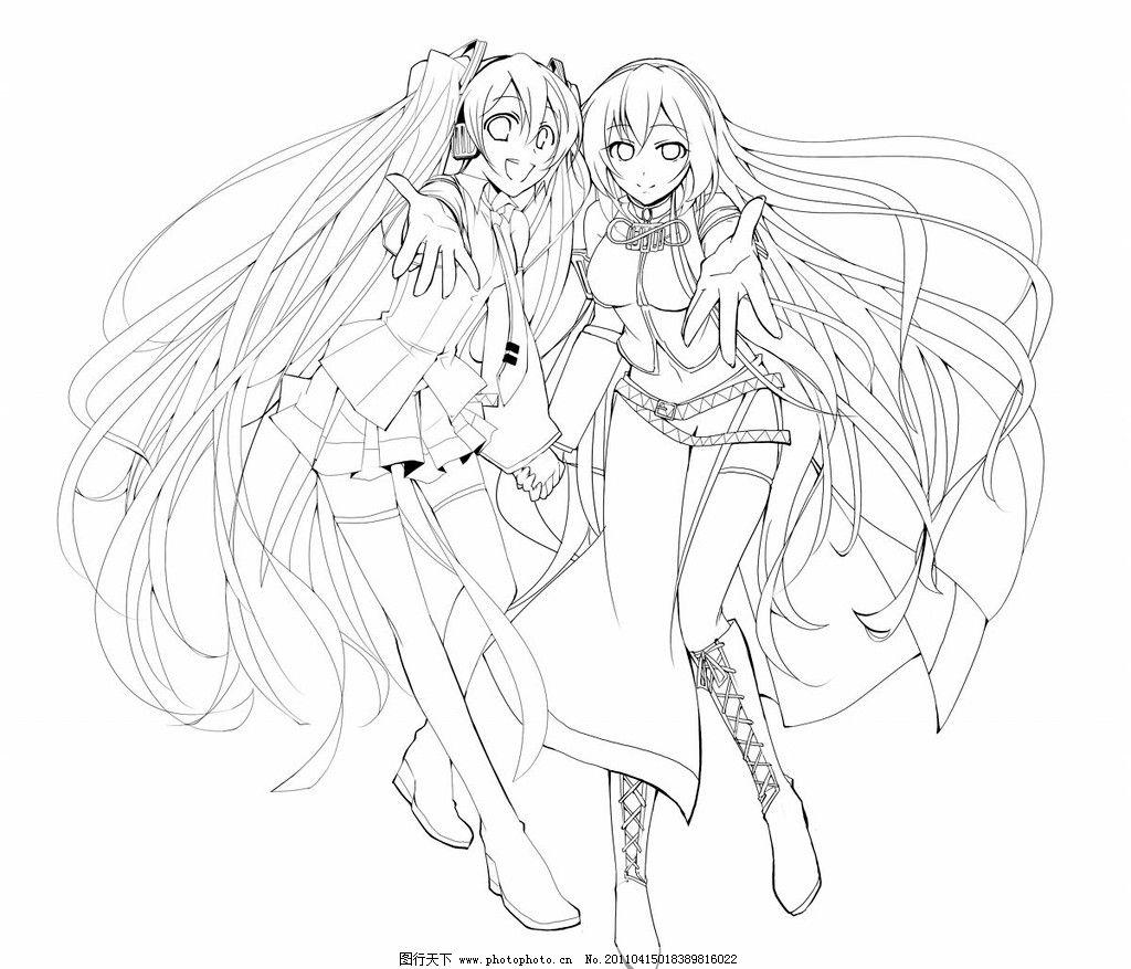 初音 巡音 v 动漫人物 动漫动画 设计 72dpi jpg