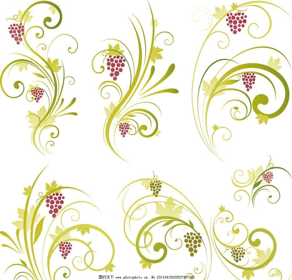 线条时尚花纹装饰矢量图片