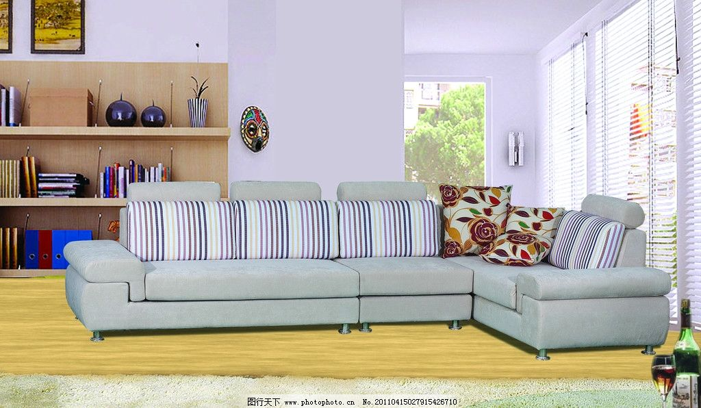 沙发 沙发背景 地毯 布艺沙发 室内家居 室内设计 环境设计 设计 300