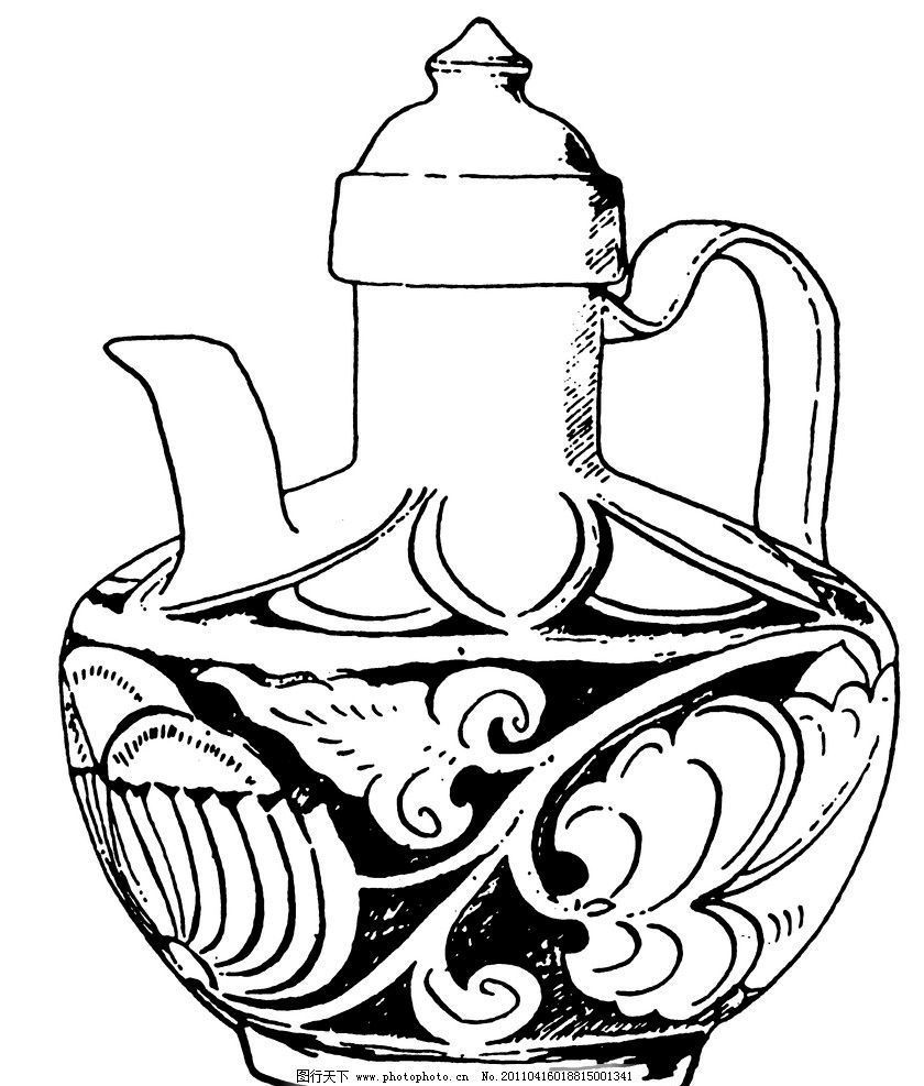 两宋时代茶壶 两宋时代绘画 古代茶壶 古代绘画 古代 茶壶 绘画 酒壶