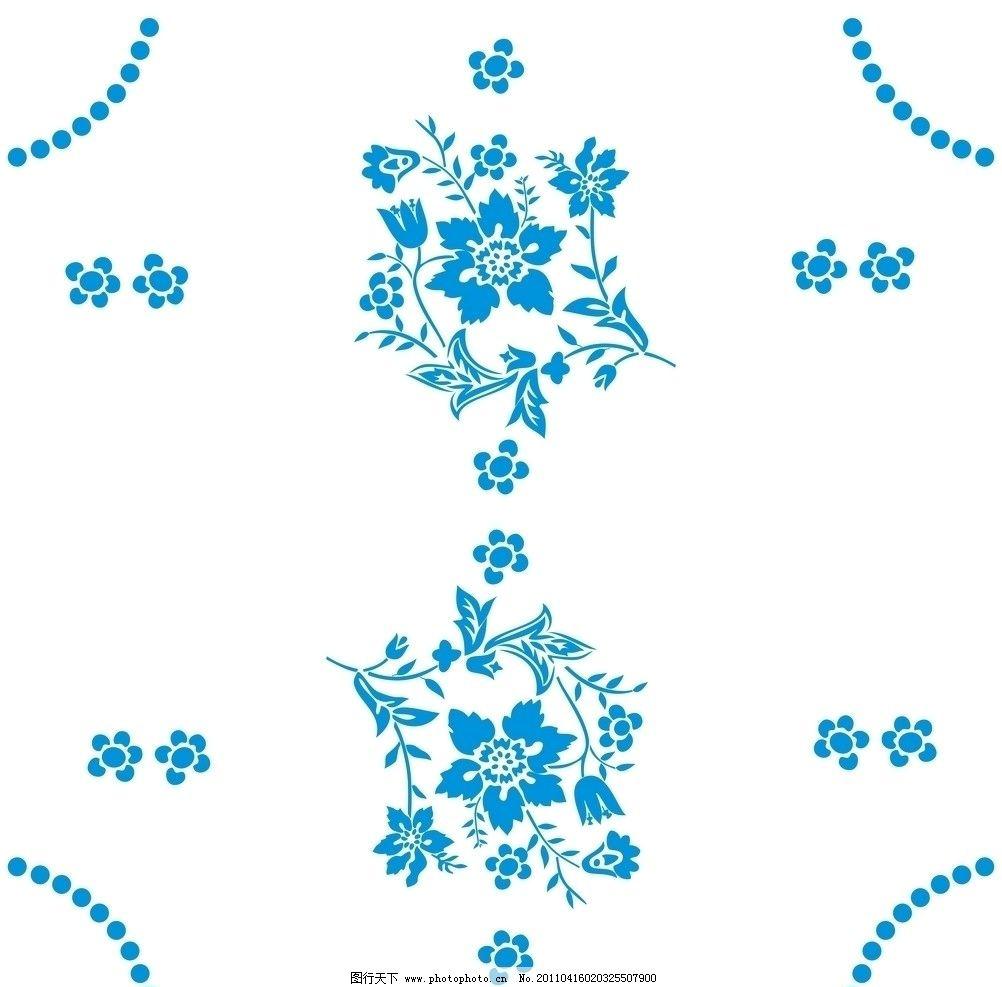 花型矢量图底纹图片