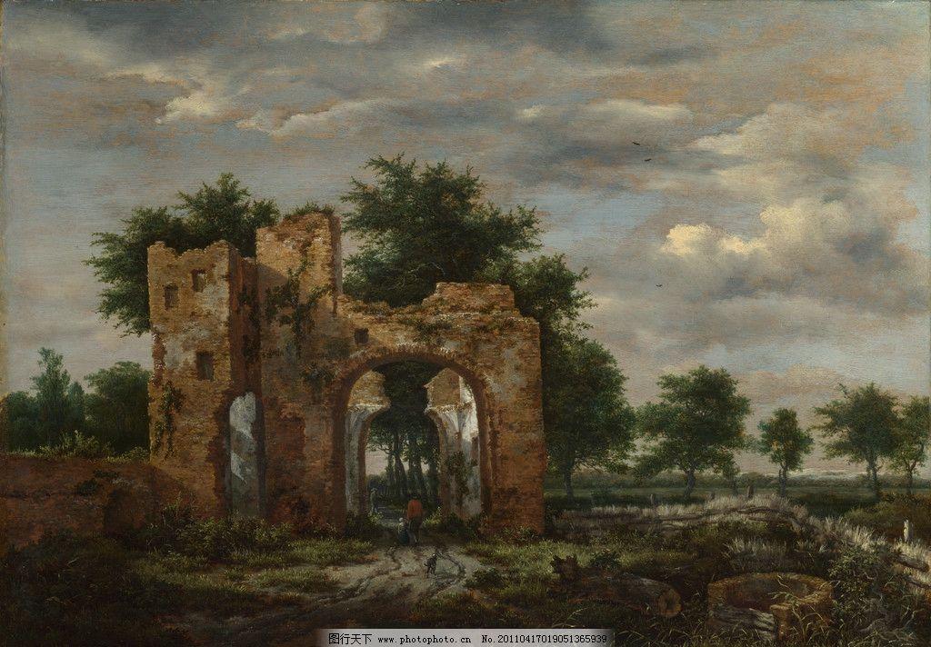 废墟 风景油画 油画 欧洲油画 珍藏 壁画 精品 装饰画 美术 精美油画