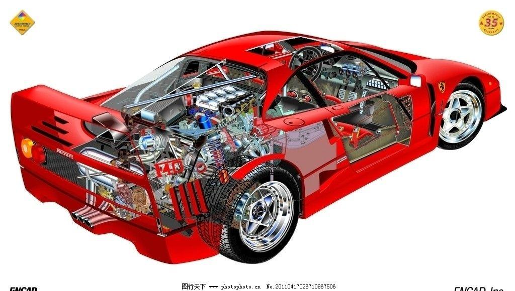 跑车内部结构图片