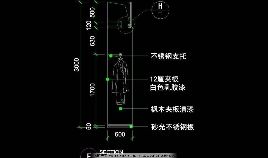 服装类cad设计素材 图纸 平面图 装修 装饰 施工图 服装柜