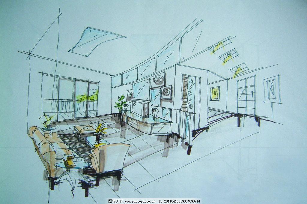 室内装饰手绘设计图图片