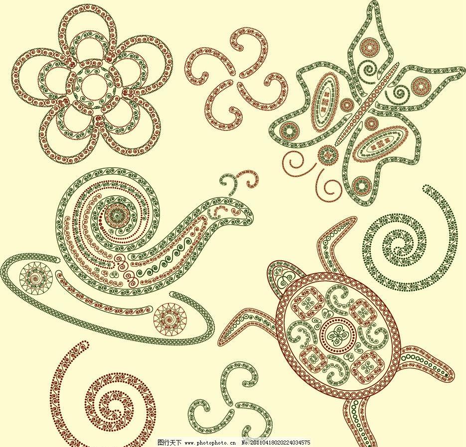 古典欧式花纹 动物花纹