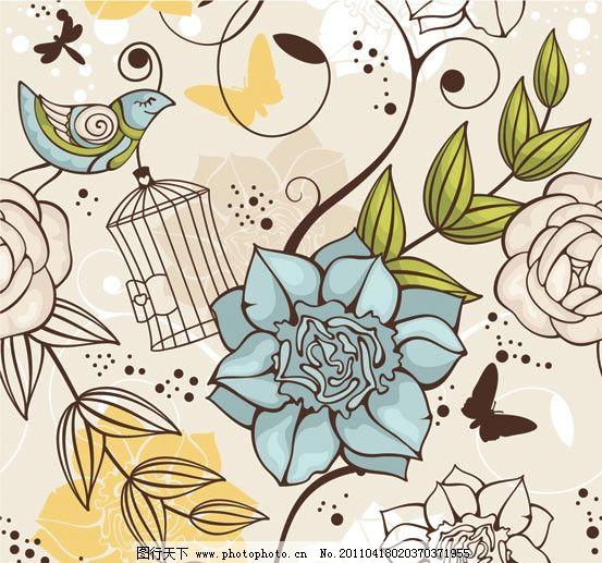 手绘花朵花卉矢量素材 手绘 可爱 线描 线条 迎春花 花卉 花纹 花朵
