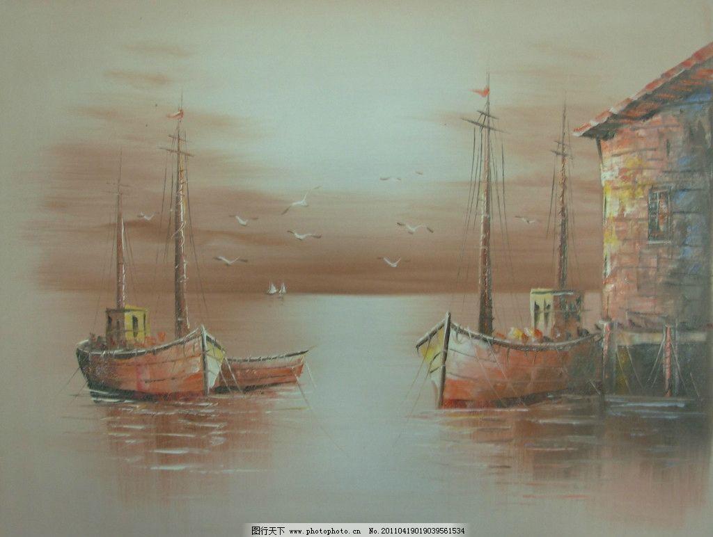 风景油画 风景 油画 油画风景 色彩 绘画 艺术 设计 彩色 朦胧油画