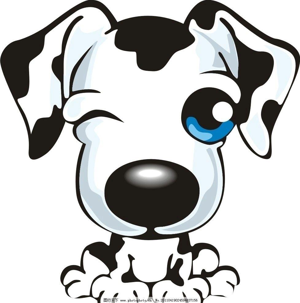 小狗 狗 斑点狗 可爱 家禽家畜 生物世界 矢量 cdr