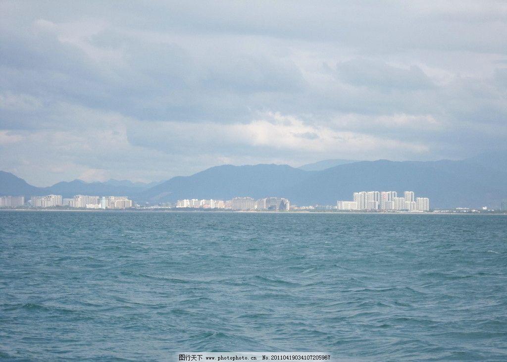 三亚海 碧海蓝天 晴朗天空 自然风景 旅游摄影