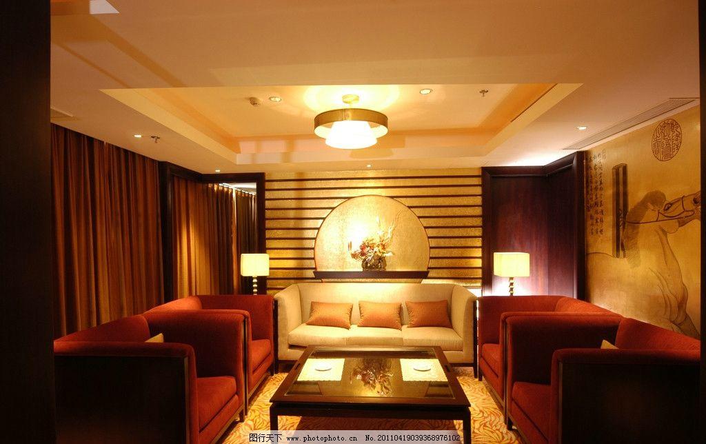 餐厅包厢休息区 室内效果图