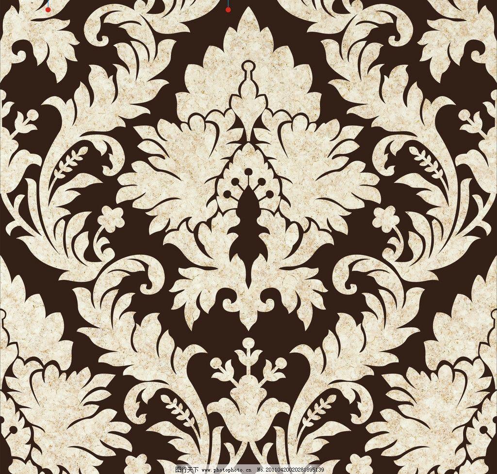 欧式壁纸花纹图片