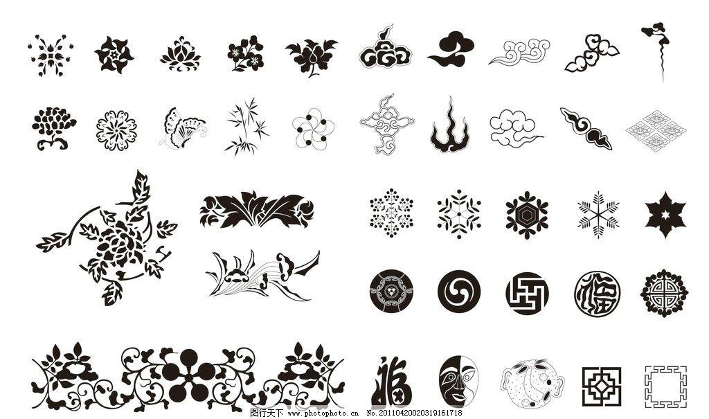花纹图案 花纹 面具 古典花纹 花边花纹 底纹边框 设计 72dpi jpg