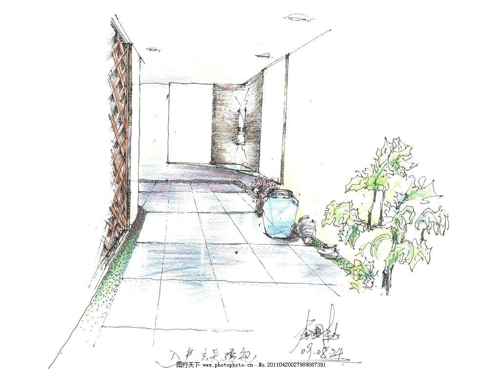 室内设计 手绘室内设计 麦克笔效果图 马克笔效果图 室内效果图