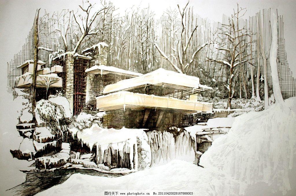 手绘景观 景观手绘 自然景观 园林景观 建筑景观 景观效果图 人文景观