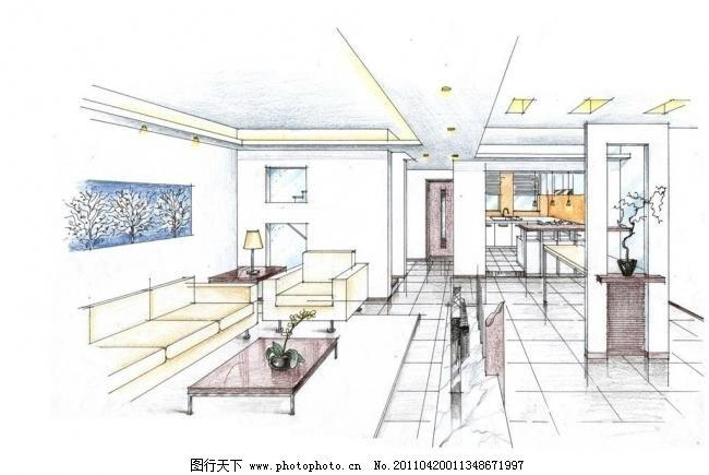 室内设计 茶几 厨房 花瓶 家居 家具 景观手绘 客厅 室内设计设计素材