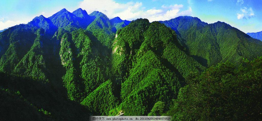 井冈山五指峰 山峰 高山 绿色山峦 自然风景 自然景观 摄影
