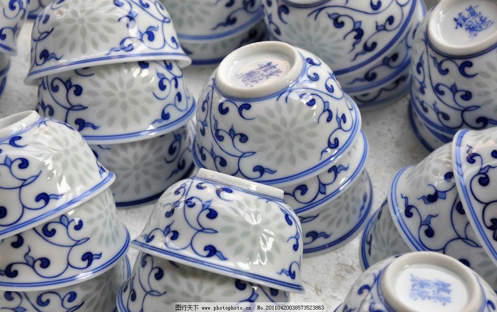 景德镇/景德镇青花瓷茶杯摄影图片