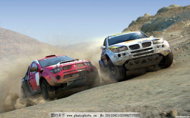 越野车 宝马x5 三菱帕杰罗 达喀尔拉力赛 越野车 图片素材 背景图片